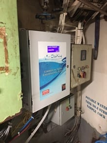 Image: ChlorKing salt water chlorinator aboard a cruise ship - ChlorKing, Inc.